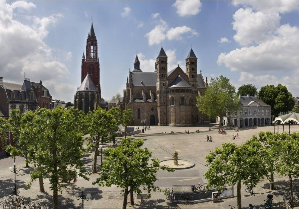Vrijthof is a large square in the centre of Maastricht, surrounded by heritage buildings, museums, hotels and restaurants.